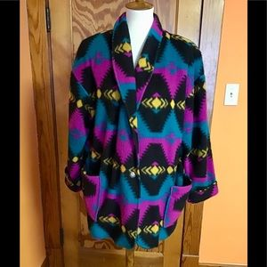 Vintage 80s loom wear psychedelic tribal blazer